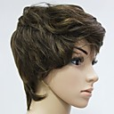 Capless 100% Human Hair Chocolate Brown Short Curly Hair Wig