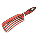 Fashionable Flat Wide Teeth Resin Comb (Red)
