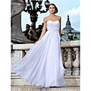 Sheath/Column Sweetheart Strapless Chiffon Wedding Dress