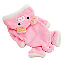 Lovely Pig Style Coral Fleece Coat with Hoodies for Dogs (XS-XL)