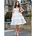 Ball Gown Sweetheart Knee-length Organza Wedding Dress