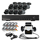 8-kanaals DVR Home Security Surveillance Camera System met 8 Warterproof Outdoor IR CCTV