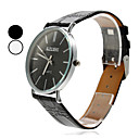 Unisex Simple Elegant Design PU Analog Quartz Wrist Watch (Assorted Colors)