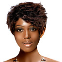 Capless Short High Quality Synthetic   Nature Look Light Brown Curly Hair Wig