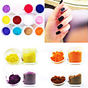 12-Color Silk Velvet Twinkle Nail Art Decorative Powder