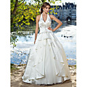 Ball Gown Halter Satin Wedding Dress