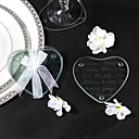 Good Wishes Heart Glass Coasters(set of 2)