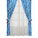 (Two Panels) Cars Story Print Kids Curtains