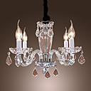 Candle Featured Crystal Chandeliers with 4 Lights
