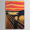 Hand-painted Oil Painting The Scream Abstract Portrait Edvard Munch