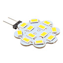 G4 3W 12x5630 SMD 240-270LM 3000-3500K Warm White Light Lotus Shaped LED Spot Bulb (12V)