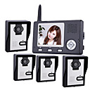 2.4GHz Wireless 3.5 Inch Monitors Video Door Phone with 4 Camera