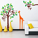 Children's Monkey Giraffe Wall Stickers