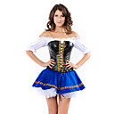 Sexy Black and Blue kunstleer en Spandex Bier Maiden baby Costume (3 stuks)