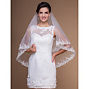 Beautiful One-tier Elbow Wedding Veils With Lace Applique Edge (More Colors)