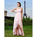 Sheath/Column Spaghetti Straps Asymmetrical Chiffon Evening Dress