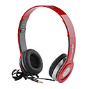 Bass Over-Ear Headphones with Remote and Mic,Red,Black,White
