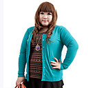Women's Round Collar Plus Size Cardigan