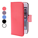 PU Leather Case with Card Slot and Wallet for iPhone 5 (Assorted Colors)