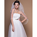 2 Layers Elbow Wedding Veils With Cut Edge (More Colors)