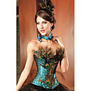 Charming Lace and Acrylic Strapless Peacock Corset(A Set)