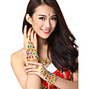 Performance Dancewear Alloy with Multicolor Crystal Belly Dance Bracelets For Ladies(1 Piece)