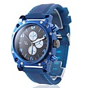 Men's Silicone Analog Quartz Wrist Watch (Blue)