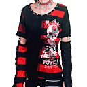 Stripes And Net Punk Lolita Sweater With Removable Sleeves(2 Pieces)