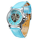 Frauen pu analoge mechanische Armbanduhr (blau)