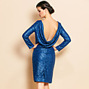 TS Sexy Cowls Backless Sequin Sheath Dress
