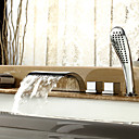 Robinet de baignoire Style contemporain  cascade avec douche  main - finition Chrome