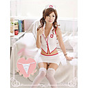 Women's Lovely White Nurse Suit Nightwear(Fit Size:M-XL)