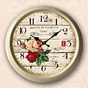 18.5&quot; Paris Flower Metal Wall Clock