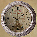 "13.5"" Plan Paris Metal Wall Clock"