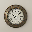Retro Metal Wall Clock 16""