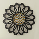 Sunflower Metal Wall Clock 24""