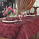 Traditional Jacquard Floral Rectangular Cotton Table Cloth