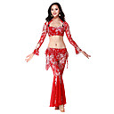 Performance Dancewear Lace with Embroidery Belly Dance Outfits For Ladies More Colors