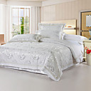 4PCS Whisper 250TC Jacquard Duvet Cover Set
