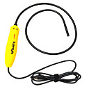 7mm Water Proof USB 2.0 300KP 10X Flexible Camera Endoscope w/ 4-LED - Yellow