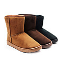 Men's Wool Flat Mid-calf Winter Boots