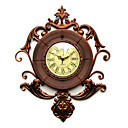 "20.5"" Elegant Floral Metal Wall Clock"