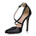 Elegante Vernice Tacco a spillo Toe Pumps a punta con fibbia partito / sera scarpe