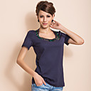 TS Handmade Beads Collar T-Shirt