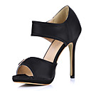 Elegant Satin Stiletto Heel Sandals With Buckle Party / Evening Shoes