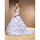 Two-In-One Ball Gown Sweetheart Court Train Taffeta Wedding Dress