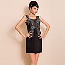 TS VINTAGE High End Handmade Beads Slim Vest Dress
