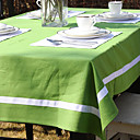 White Line Solid Color Table Cloth