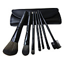 7PCS Cosmetic Artificial Fibre Brush Set(Black)