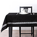 Embroidered Silver Color Table Cloth